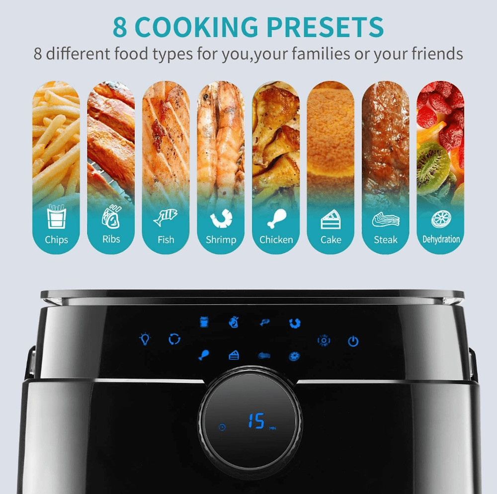 Versatility in Cooking Options with the Rotisserie Chicken with the Ultrean 12.5 Quart Air Fryer Rotisserie Oven