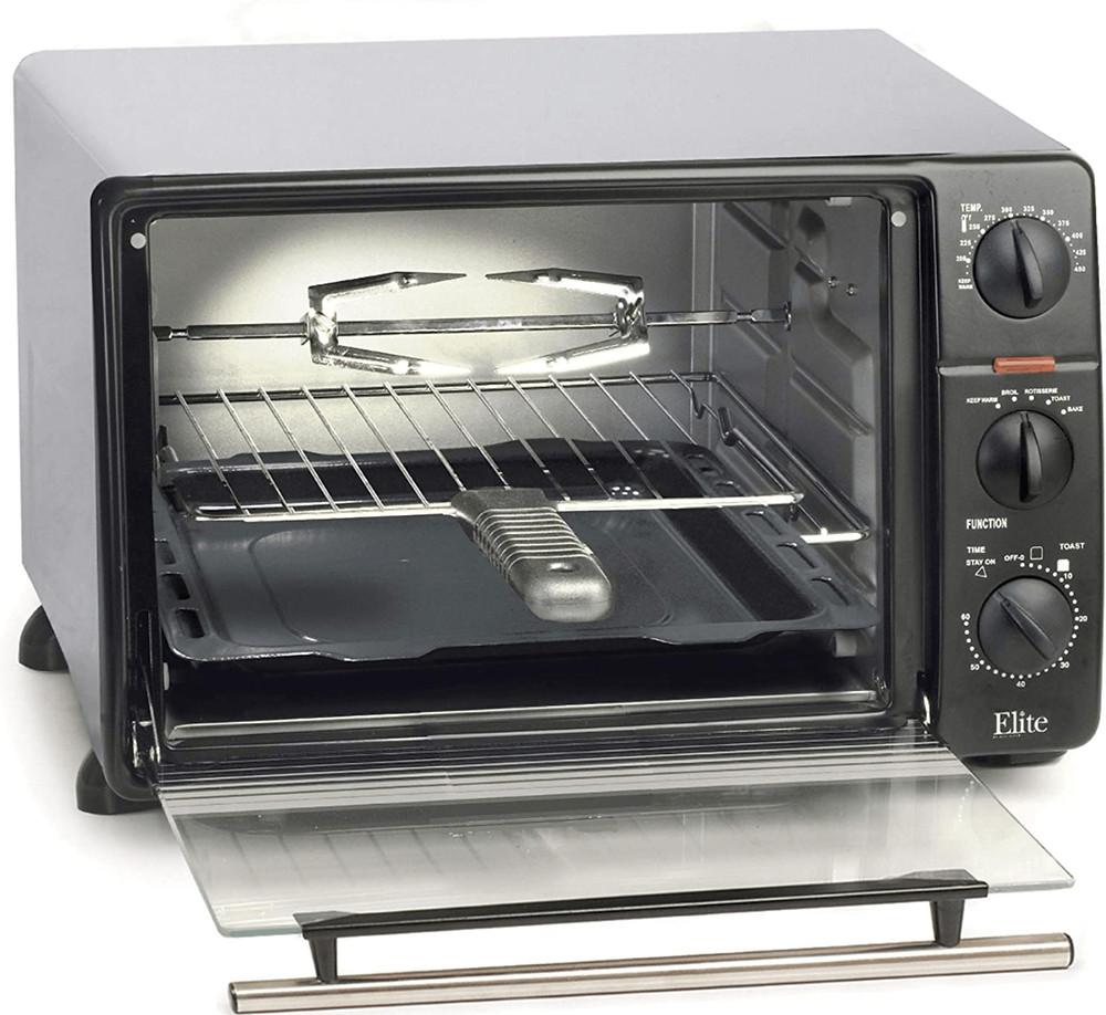 The Maxi-Matic 2008N Elite Gourmet Countertop Rotisserie Oven