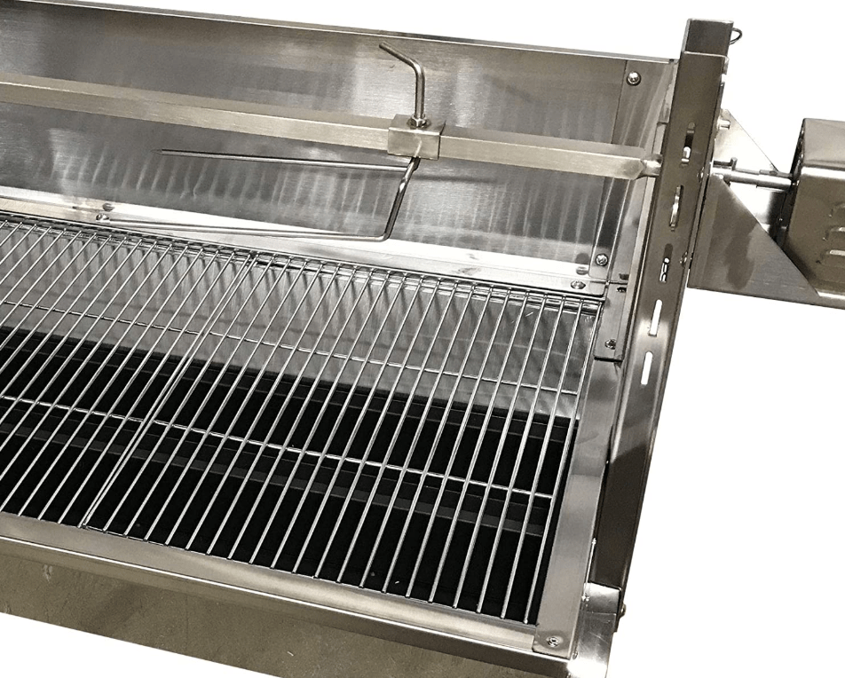 Setting up to Rotisserie Cook with the Commercial Bargains Portable Charcoal Rotisserie Grill
