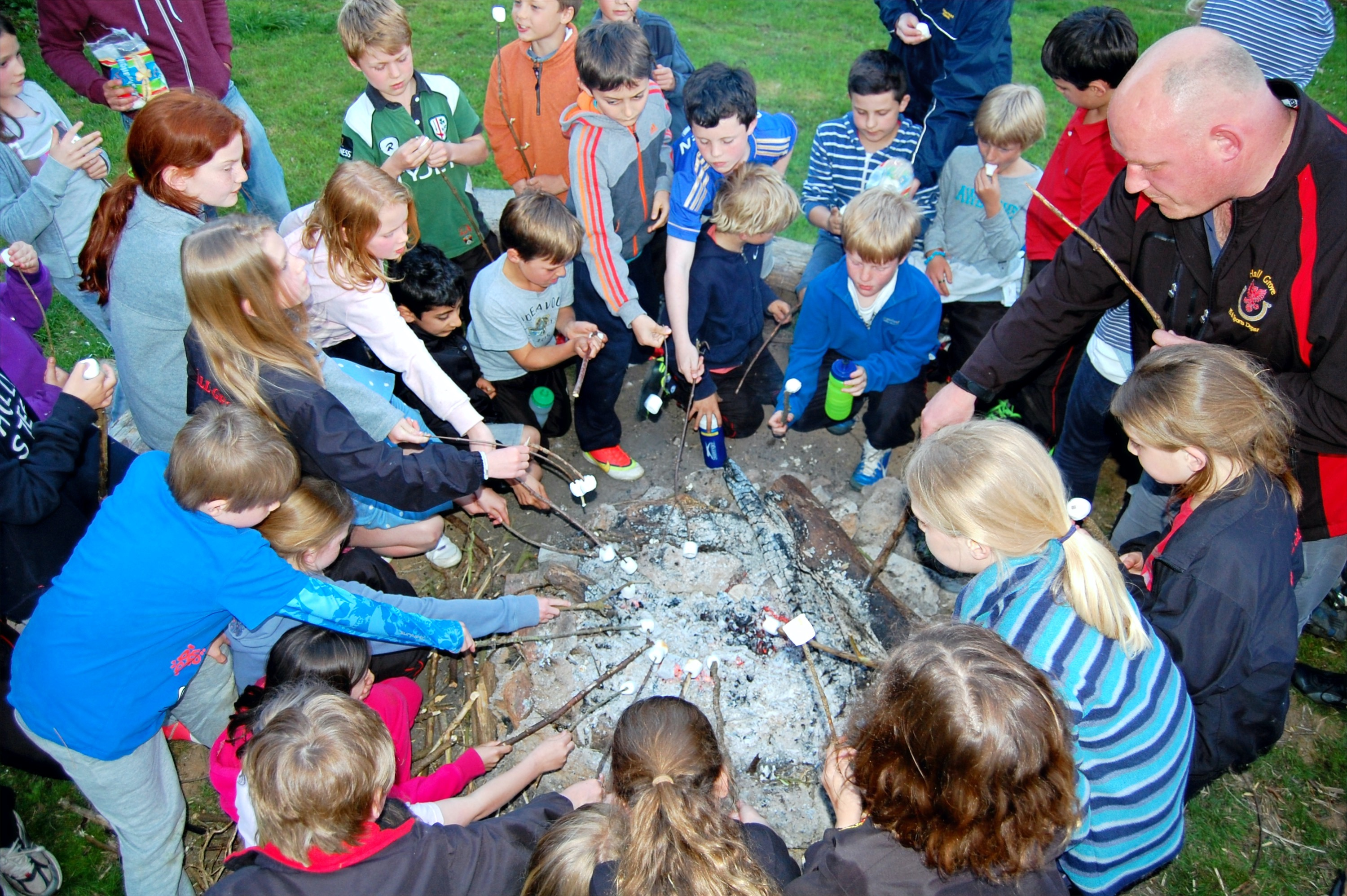 Battisborough camp fire