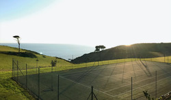 Tennis courts with a view