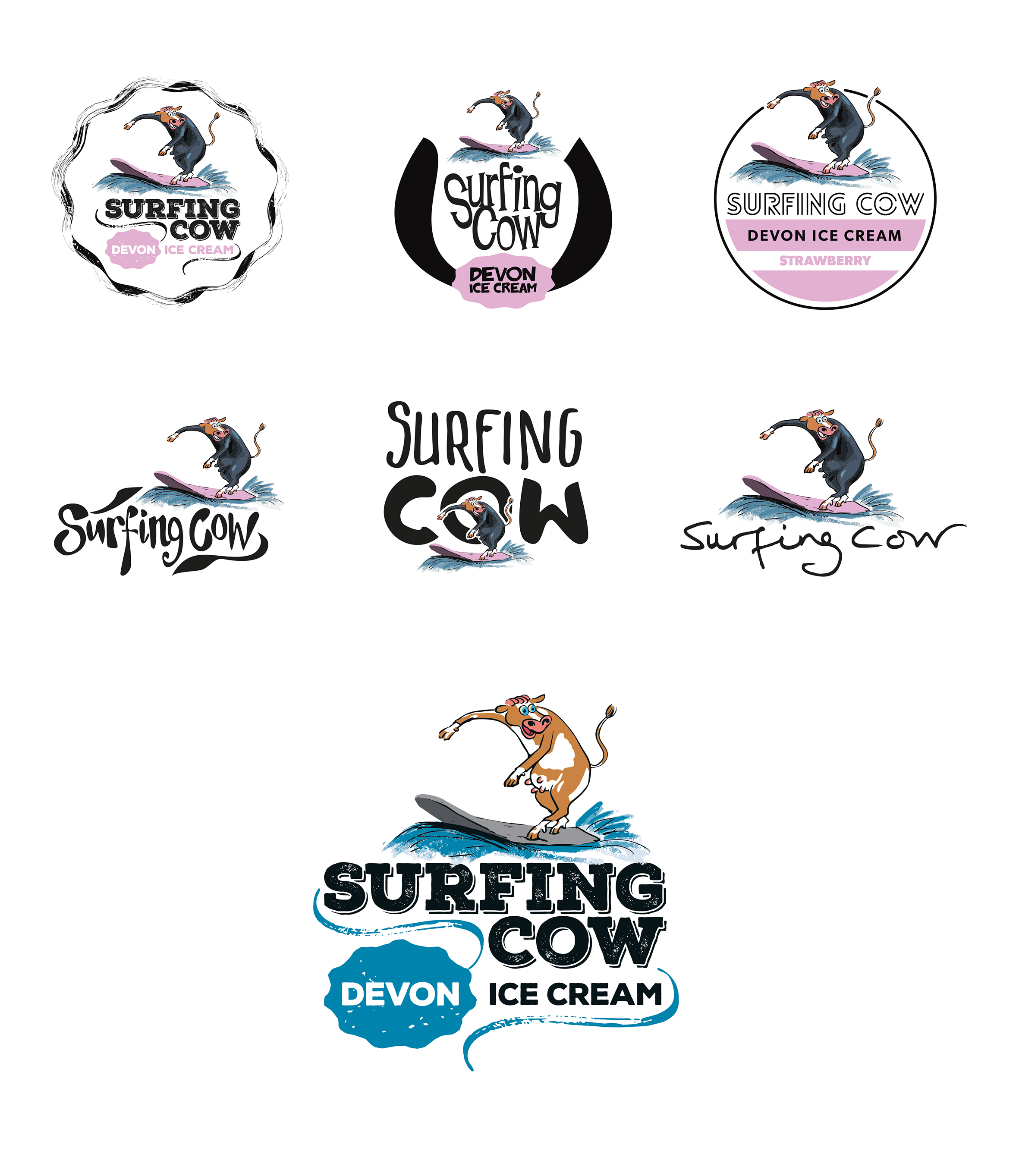 Surfing Cow Ice Cream
