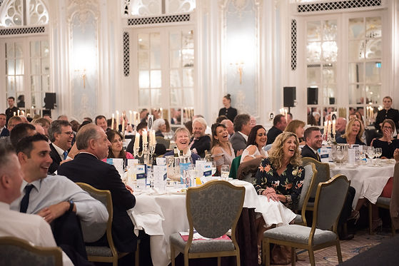 Cleaning industry associates and partners laughing and enjoying themselves at the CSSA industry lunch at the Savoy Hotel