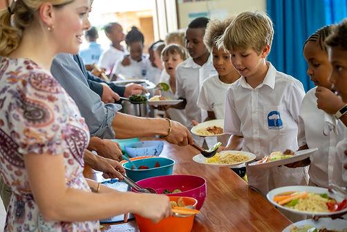 Kennedy House primary international School lunch time Tanzania