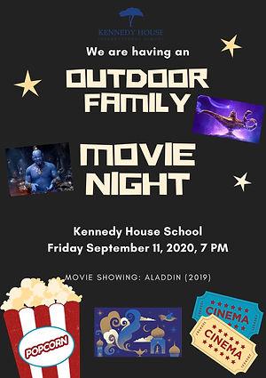 Movie Night poster usa river Kennedy house school
