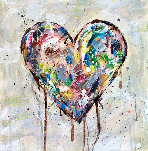 """""""Love Wins"""" Heart Card"""