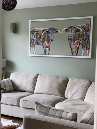 Longhorn Cattle in situ