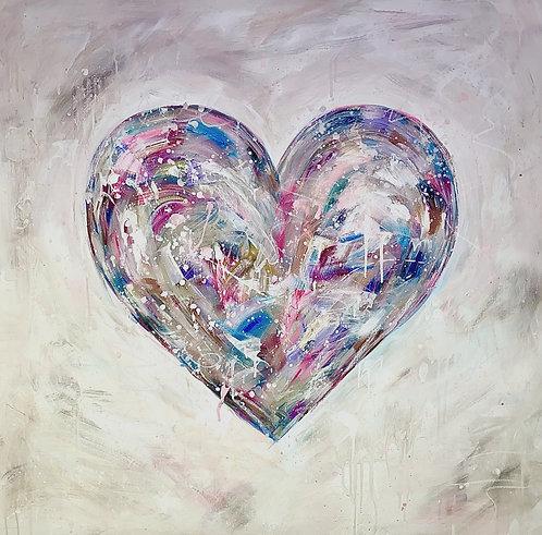 """Peace, Love & New Beginnings""  100cmx100cm"