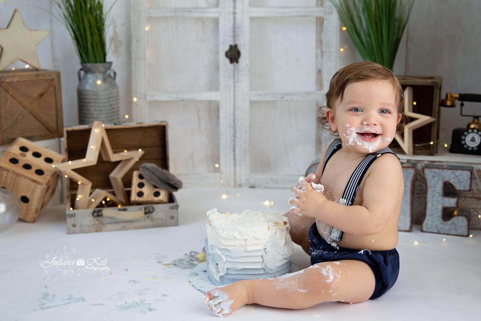 pompano beach cake smash photographer