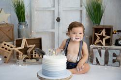 pompano beach cake smash photography