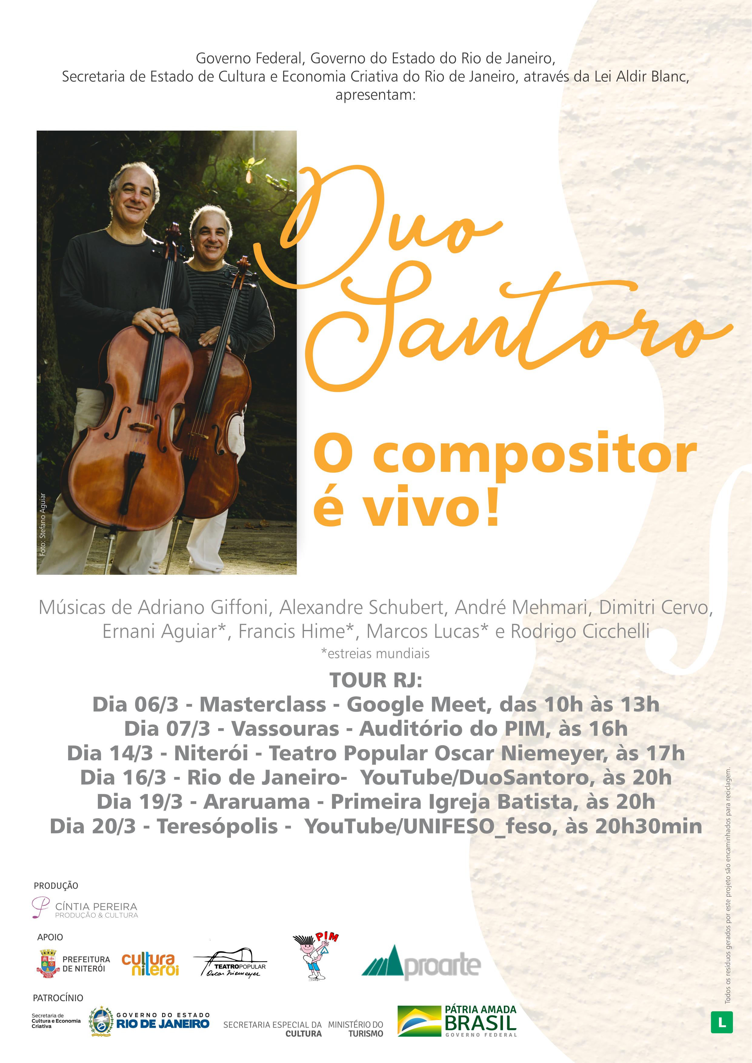 TOUR RJ DUO SANTORO - O compositor é vivo!