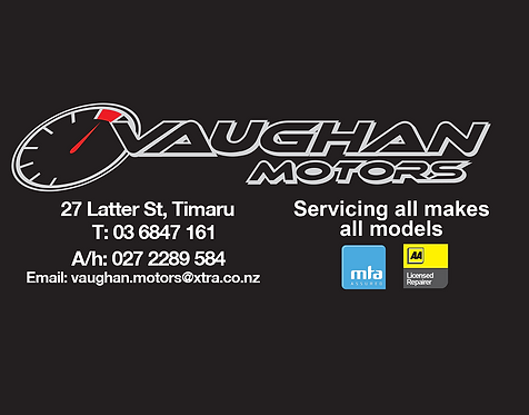 Vaughan Motors Timaru Voucher