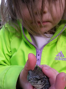 Image of Student with Frog