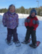Image of Students Snowshoeing