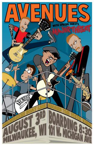 Avenues - 2018 Concert Poster