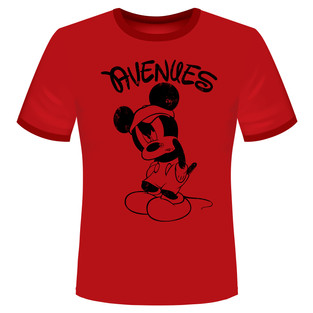 """Avenues - """"Angry Mickey"""" T-shirt"""