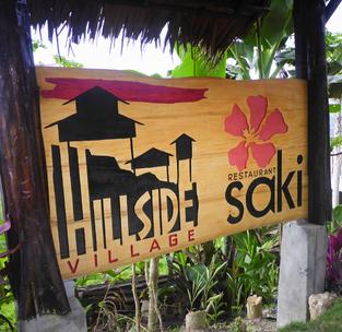 Hillside Village & Restaurant Saki – Handcarved Resort Signage