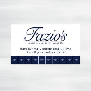 Fazio's - Punch Card