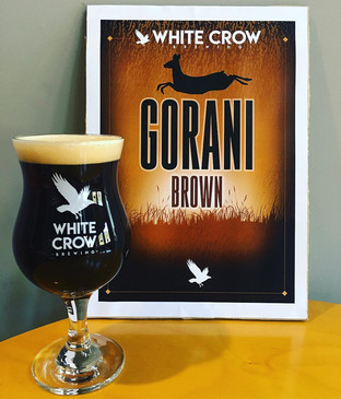 White Crow Brewing – Label Design for Their Award-Winning Brown Ale