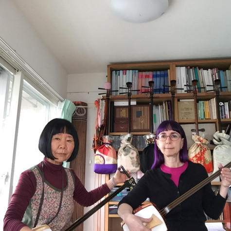 Learning nagauta shamisen with Nishimura Makoto