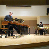 Performing with Ryan Scott, percussionist