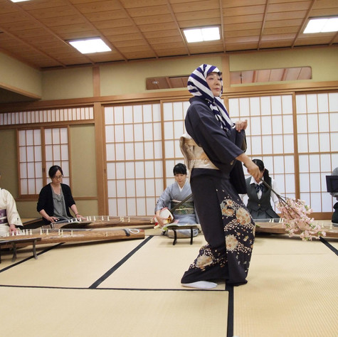 Performing with Nakagawa Garei and Fukuyo Maehara