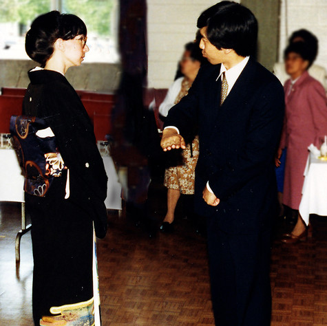 With His Imperial Highness Prince Takamado-no-miya