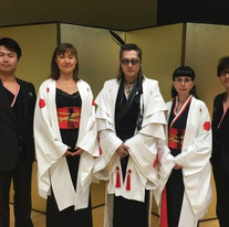 Pre-performance photo shoot with Ishii Tatuya