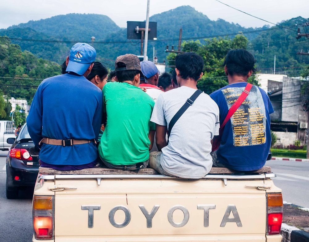Driving in Ranong, Thailand