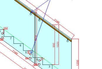 Frameless internal glass balustrade for penthouses