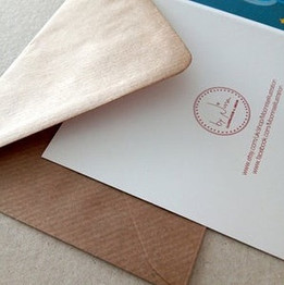 Recycled envelopes and card stock
