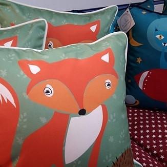 Fox Cushion - 100% Cotton
