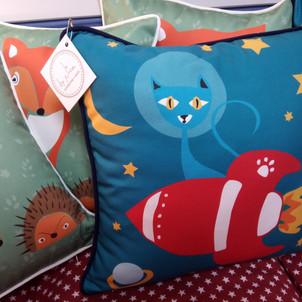 Rocket Cat Cushion - buy now
