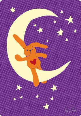Rabbit on the moon