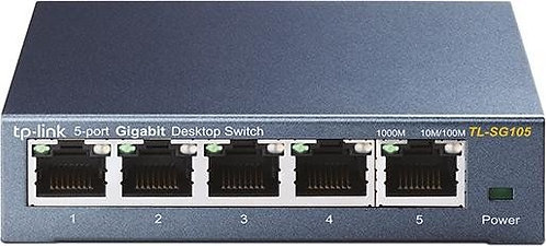 TP-Link TL-SG100 Desktop Gigabit Switch, 5x RJ-45