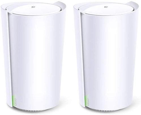 TP-Link Deco X90, 2er Pack, WiFi 6 Mesh System, Triband 6600Mbit/s