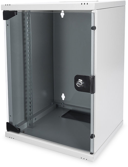 Digitus Professional DN-19 Unique Serie 22HE Serverschrank, Glastür, grau, 600mm
