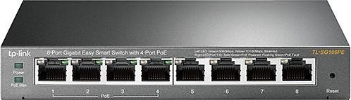 TP-Link TL-SG108PE Desktop Gigabit Easy Smart Switch, 8x RJ-45, PoE