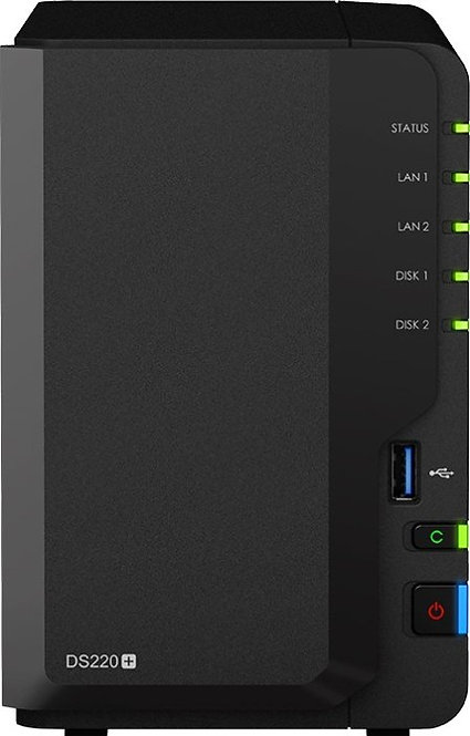 Synology DiskStation DS220+, 2 x 4TB SATA HDD, (2GB RAM, 2x Gb LAN)