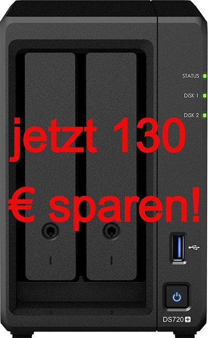 Synology DiskStation DS720+, 2 x 4TB NAS HDD, (2GB RAM, 2x Gb LAN)