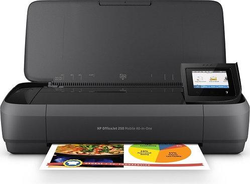 HP OfficeJet 250 Mobile, Tinte, A4, WLAN, Drucker, Scanner, mehrfarbig