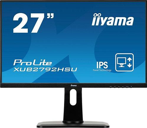 "Iiyama ProLite XUB2792HSU-B1, 27"", IPS, 1920x1080, VGA, HDMI, DP, Speaker"