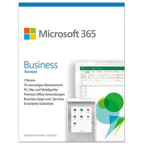 Microsoft 365 Business Standar, 1 Jahr, 1 Benutzer, ESD, (PC/MAC)