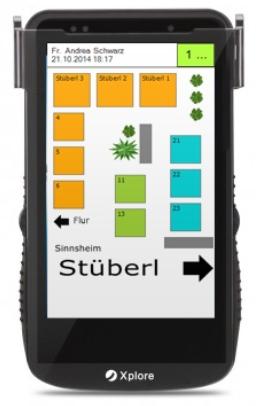 "Xplore II - Robustes Enterprise PDA, kapazitivem 4,3"" Touchdisplay, Windows"
