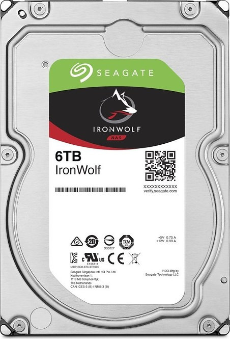 Seagate IronWolf ST6000VN001, 6TB, SATA 6Gb/s