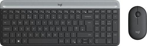 Logitech MK470 Slim Wireless Keyboard and Mouse Combo grau, USB, DE