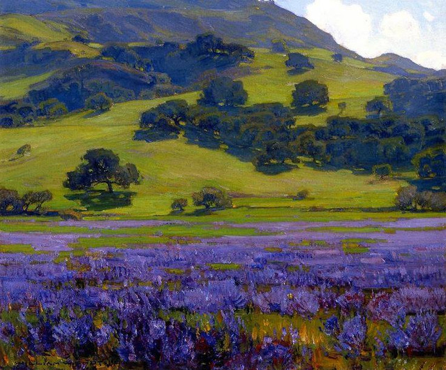 The Lupine Patch, 1921, William Wendt