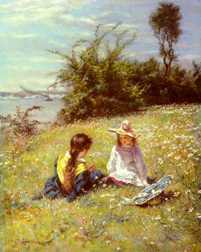 """The Dandelion Clock"", William John Hennessy (1839-1917)"