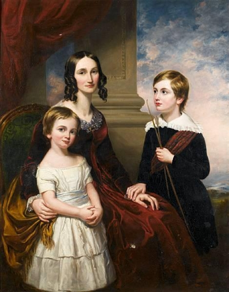 Portrait of a lady with her Son and Daughter