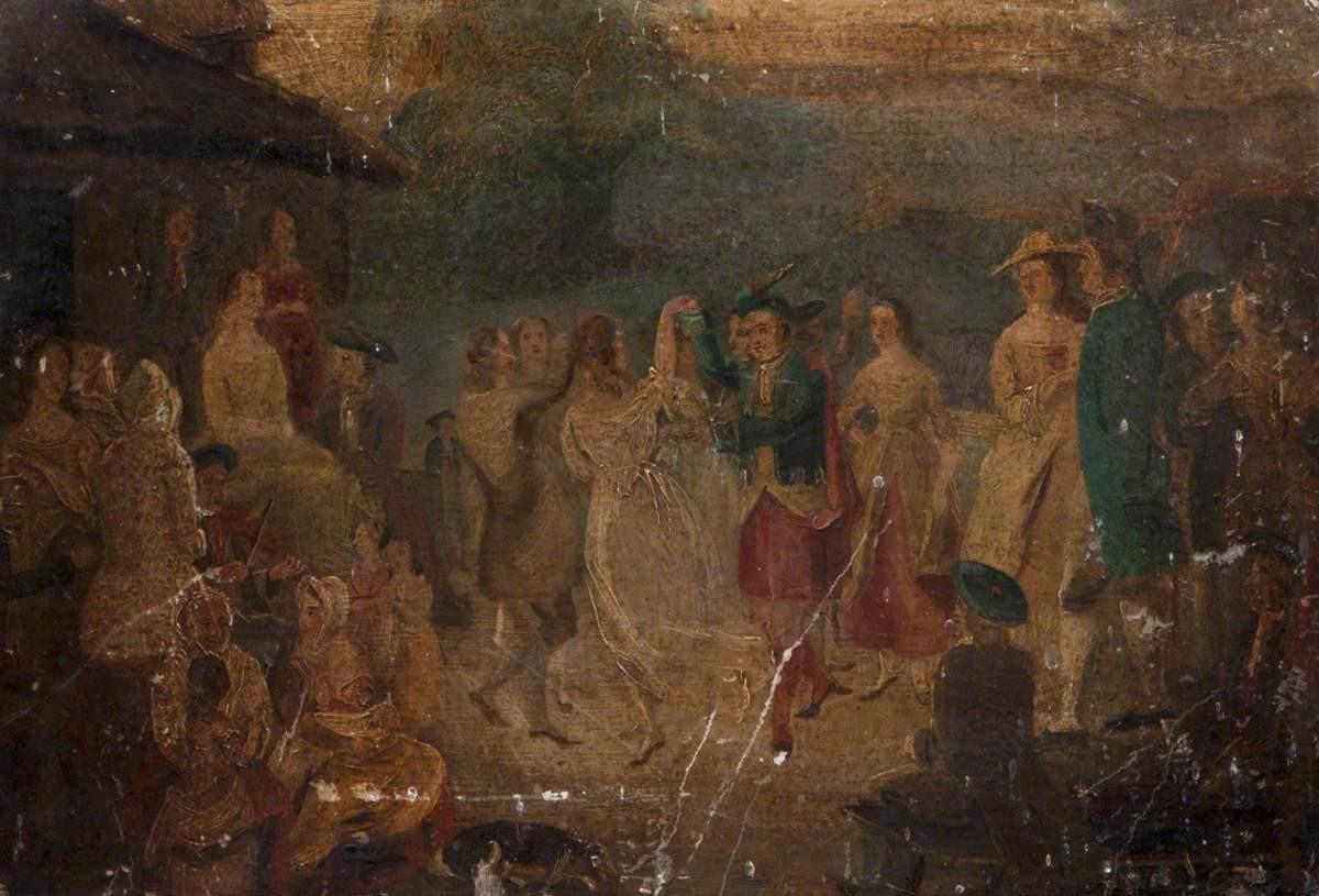 """""""Highland Dancers"""",  unknown artist, Highland Folk Museum (High Life Highland)"""